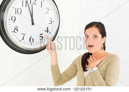 Timing - Surprised Businesswoman