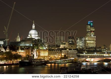 London and River Thames at Night