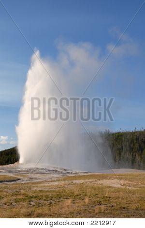 Old Faithful Geyser. Yellowstone Np