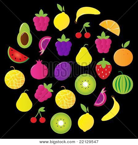 Fresh Tasty Stylized Fruit