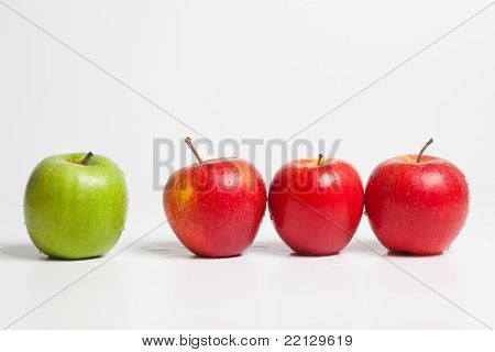 Redlined Green Apple