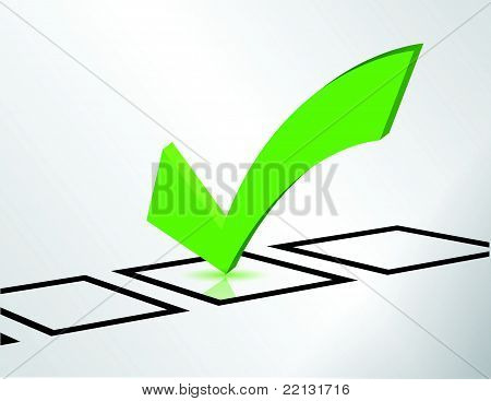 green check list symbol illustration design