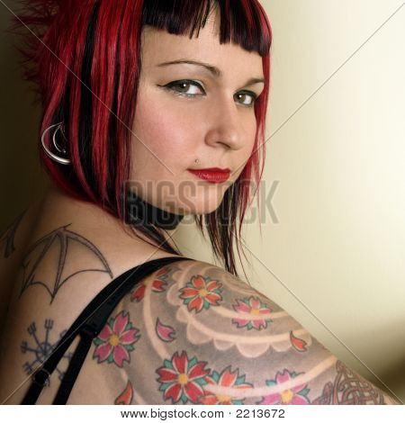 Beautiful Tattoo Goth Girl
