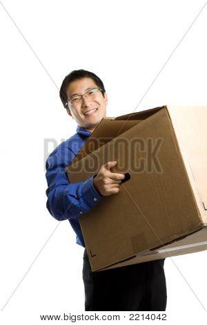 Moving Businessman