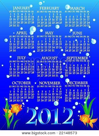2012 Goldfish Calendar