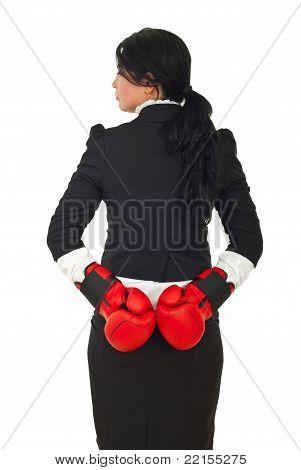 Dishonest Business Woman Waiting