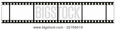 Blank bw negative film frame