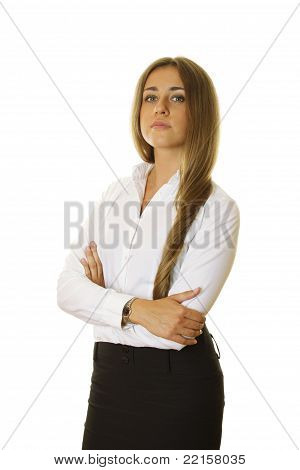 Businesswoman With Her Arms Crossed