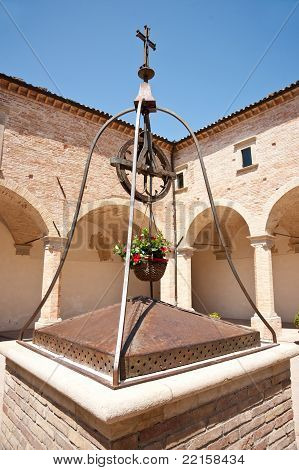 Well in Italian courtyard.