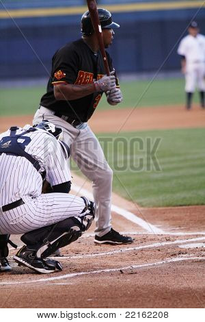 Rochester Red Wings batter Delmon Young waits for a pitch