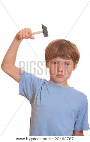 Boy With Hammer