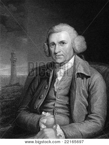 John Smeaton (1724-1792). Engraved by R.Woodman and published in The Gallery Of Portraits With Memoirs encyclopedia, United Kingdom, 1833.