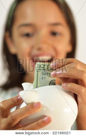 Little Girl is a Money Saver