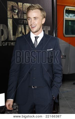 LOS ANGELES, CA - JUL 28: Tom Felton at the Premiere of 'Rise of the Planet of the Apes' at Grauman's Chinese Theatre on July 28, 2011 in Los Angeles, California