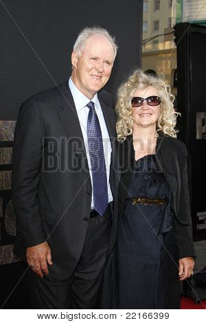 LOS ANGELES, CA - JUL 28: John Lithgow; Mary Yeager at the Premiere of 'Rise of the Planet of the Apes' at Grauman's Chinese Theatre on July 28, 2011 in Los Angeles, California