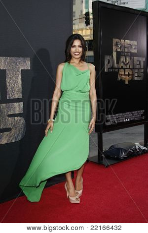 LOS ANGELES, CA - JUL 28: Frieda Pinto at the Premiere of 'Rise of the Planet of the Apes' at Grauman's Chinese Theatre on July 28, 2011 in Los Angeles, California