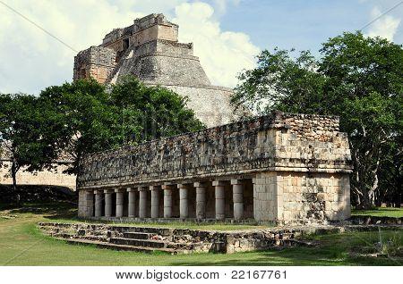 Old Lady's House & Pyramid - Uxmal