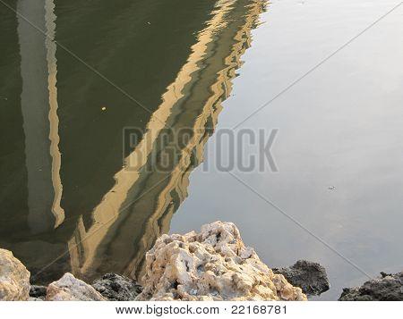 Distorted Bridge Reflection