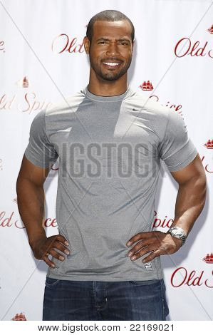 LOS ANGELES, CA - JULY 28: Isaiah Mustafa at the 'Old Spice Challenge' at The Grove on July 28, 2011 in Los Angeles, California