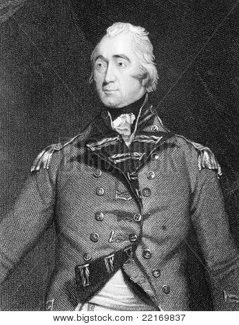 Francis Rawdon-Hastings (1754-1826). Engraved by G.Parker and published in National Portrait Gallery encyclopedia, United Kingdom, 1830.
