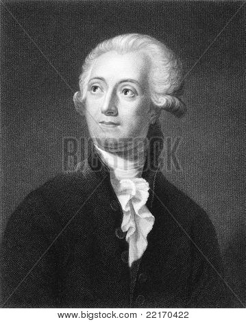 Antoine Lavoisier (1743-1794). Engraved by C.E.Wagstaff and published in The Gallery Of Portraits With Memoirs encyclopedia, United Kingdom, 1835.