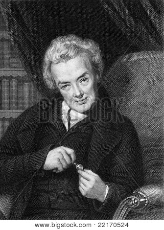 William Wilberforce (1759-1833). Engraved by E.Scriven and published in The Gallery Of Portraits With Memoirs encyclopedia, United Kingdom, 1833.