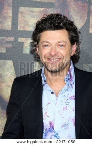 """LOS ANGELES - JUL 28:  Andy Serkis arriving at the """"Rise of the Planet of the Apes"""" Los Angeles Premiere at Grauman's Chinese Theater on July 28, 2011 in Los Angeles, CA"""