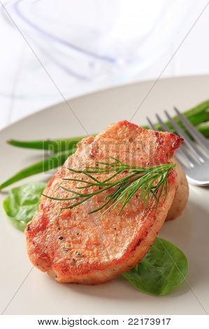 Marinated Pork Chop And Vegetables