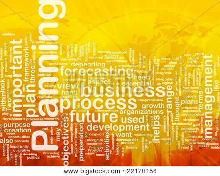 Background concept wordcloud illustration of planning international