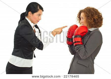 Manager Pointing To Employee