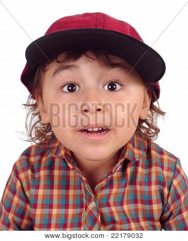 Kid with surprise expression