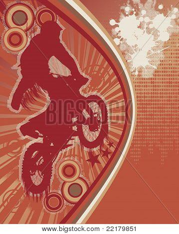 Biker Grunge Poster Vector