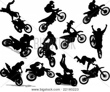 Motorcycle Racing Silhouette Motorcycle stunt silhouette