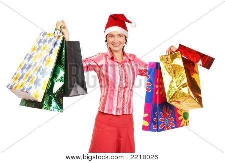 Compras de mulher de Natal