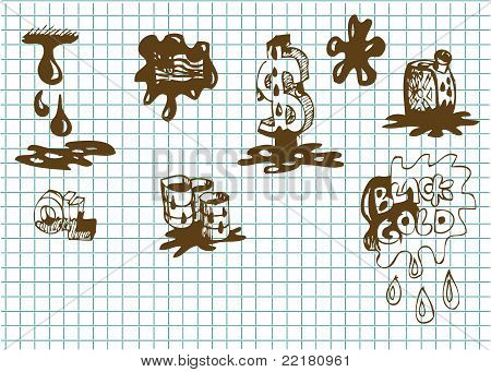 Hand Drawn Oil Symbols