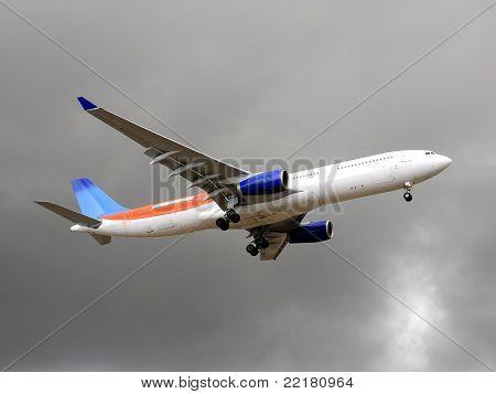 Plane Before Landing