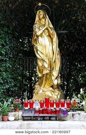 Golden Madonna Statue