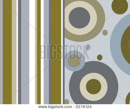 Blue And Brown Stripes And Circles