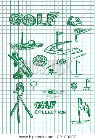 Hand Drawn Golf Illustrations