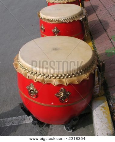 Large Chinese Drums
