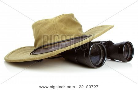 The Hikers Hat With Binoculars