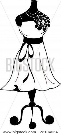 Black & White Dress Dressmaker's Dummy