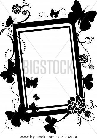 Empty Butterfly Silhouette frame
