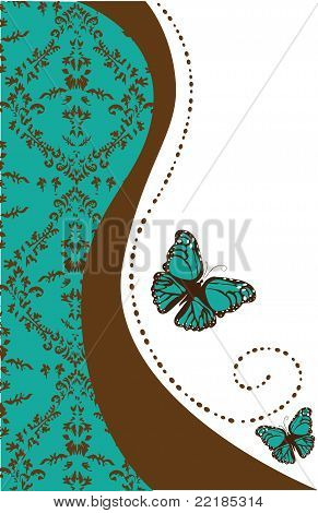 Damask And Butterfly