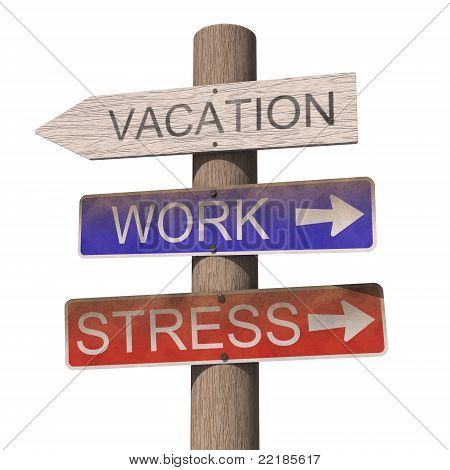Wooden Vacation Sign