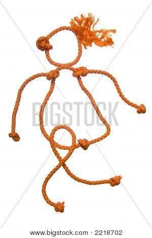 Figura múltipla do povo de corda