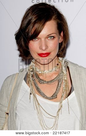 LOS ANGELES, CA - JAN 28: Milla Jovovich at Calvin Klein Collection & Los Angeles Nomadic Division 1st Annual Celebration on January 28, 2010 in Los Angeles, California