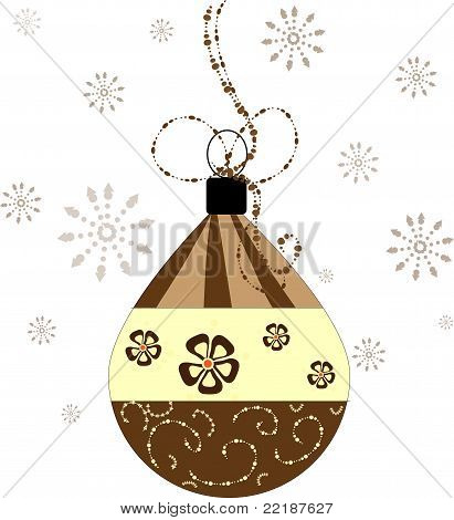 Retro Christmas Ball Decoration