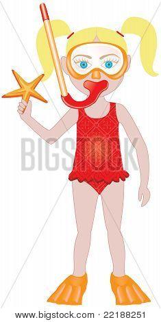 Blond Girl Swimsuit