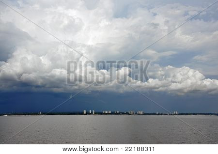Dark clouds over Manaus